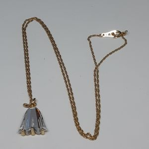 1970's Signed Amway Gold Tulip Necklace